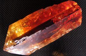 beautiful red topaz gem